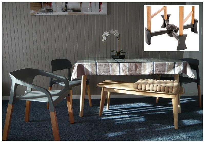 Locorcieres table 140x80 rehausseur de chaises