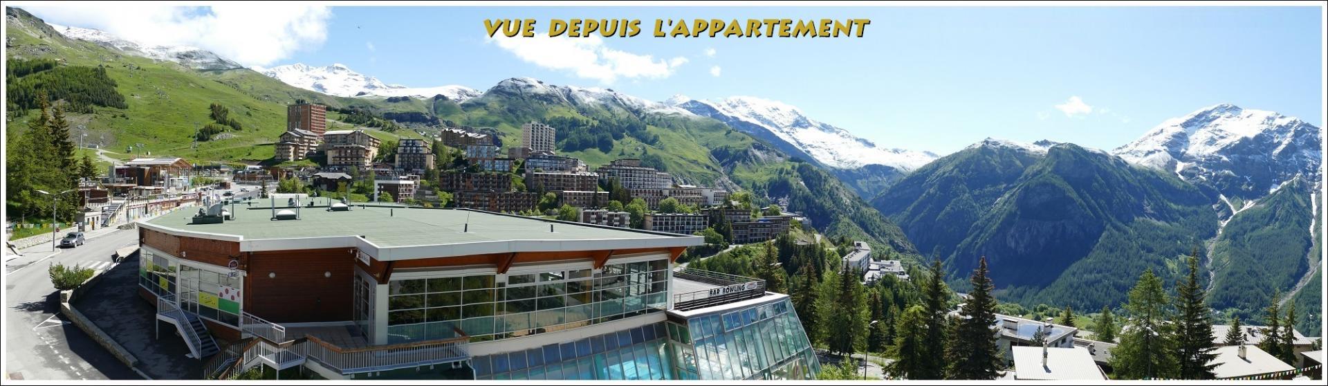 Vue panoramique appartement Orcières