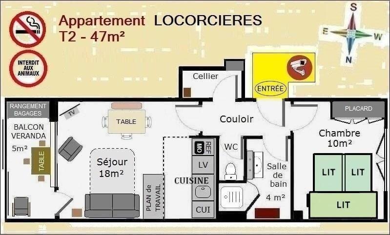 Plan appartement de location Orcières