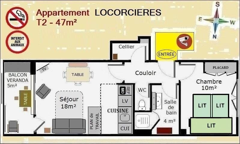Plan appartement de location à Orcières