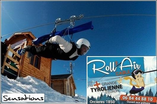 Roll Air Câble - La tyrolienne d'Orcières Merlette